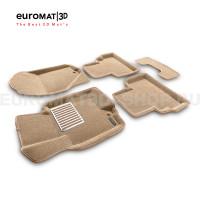 Текстильные 3D коврики Euromat3D Lux в салон для Infiniti FX,QX70 (2008-2014/2015-) № EM3D-002802T Бежевые