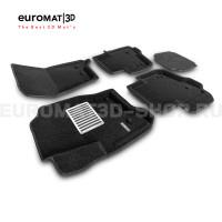 Текстильные 3D коврики Euromat3D Lux в салон для Land Rover Discovery III (2005-2009) № EM3D-003100
