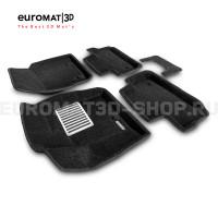 Текстильные 3D коврики Euromat3D Lux в салон для Land Rover Freelander II (2006-2014) № EM3D-003101
