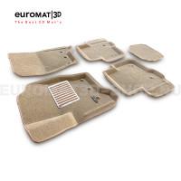 Текстильные 3D коврики Euromat3D Lux в салон для Land Rover Discovery IV (2010-2016) № EM3D-003108T Бежевые