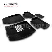 Текстильные 3D коврики Euromat3D Lux в салон для Mazda CX-7 (2006-2014) № EM3D-003409