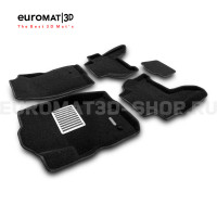 Текстильные 3D коврики Euromat3D Lux в салон для Nissan Pathfinder (R51) (2004-2014) № EM3D-003710