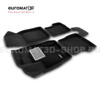 Текстильные 3D коврики Euromat3D Lux в салон для Renault Duster (2011-2014) № EM3D-004200