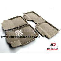 Текстильные 3D коврики Euromat3D Lux в салон для Toyota Camry V40 (2006-2011) № EM3D-005104T Бежевые