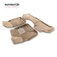 Текстильные 3D коврики Euromat3D Lux в салон для Toyota Land Cruiser 200 (2007-2012) № EM3D-005118T Бежевые
