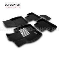 Текстильные 3D коврики Euromat3D Lux в салон для Volvo XC 60 (2008-2017) № EM3D-005505