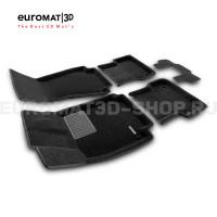 Текстильные 3D коврики Euromat3D Business в салон для Audi A6 (2011-2018) № EMC3D-001107