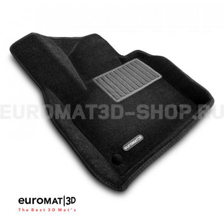 Текстильные 3D коврики Euromat3D Business в салон для Audi Q3 (2012-2019) № EMC3D-001113