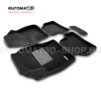 Текстильные 3D коврики Euromat3D Business в салон для Ford Focus 2 (2005-2011) № EMC3D-002214