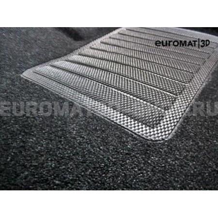 Текстильные 3D коврики Euromat3D Business в салон для Ford Focus 3 (2011-2021) № EMC3D-002207