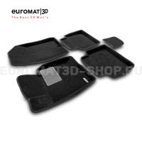 Текстильные 3D коврики Euromat3D Business в салон для Hyundai i40 (2011-2016) № EMC3D-002912