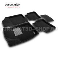Текстильные 3D коврики Euromat3D Business в салон для Hyundai Elantra (2006-2008) № EMC3D-002722