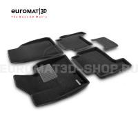 Текстильные 3D коврики Euromat3D Business в салон для Hyundai Santa Fe (2010-2012) № EMC3D-002715