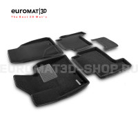 Текстильные 3D коврики Euromat3D Business в салон для Kia Sorento (2009-2012) № EMC3D-002930