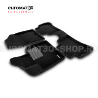 Текстильные 3D коврики Euromat3D Business в салон для Kia Sorento (2013-2019) № EMC3D-002919