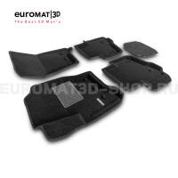 Текстильные 3D коврики Euromat3D Business в салон для Land Rover Discovery IV (2010-2016) № EMC3D-003108