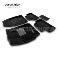 Текстильные 3D коврики Euromat3D Business в салон для Mazda CX-7 (2006-2015) № EMC3D-003409