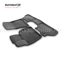Текстильные 3D коврики Euromat3D Business в салон для Bmw X6 (E71) (2008-2014) № EMC3D-001212G Серые