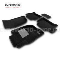 Текстильные 3D коврики Euromat3D Business в салон для Mitsubishi Pajero Sport (2008-2014) № EMC3D-003612