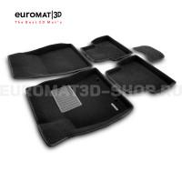 Текстильные 3D коврики Euromat3D Business в салон для Nissan Juke (2011-) № EMC3D-003701