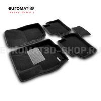 Текстильные 3D коврики Euromat3D Business в салон для Peugeot 4007 № EMC3D-003609