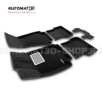 Текстильные 3D коврики Euromat3D Lux в салон для Audi A6 (2011-2018) № EM3D-001107