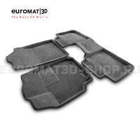 Текстильные 3D коврики Euromat3D Business в салон для Toyota Camry V40 (2006-2011) № EMC3D-005104G Серые