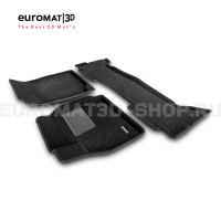 Текстильные 3D коврики Euromat3D Business в салон для Toyota Land Cruiser 100 (1998-2003) № EMC3D-005117