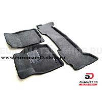 Текстильные 3D коврики Euromat3D Business в салон для Toyota Land Cruiser 100 (1998-2003) № EMC3D-005117G Серые