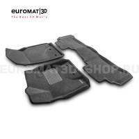 Текстильные 3D коврики Euromat3D Business в салон для Toyota Land Cruiser 200 (2007-2012) № EMC3D-005118G Серые