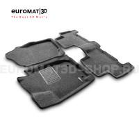 Текстильные 3D коврики Euromat3D Business в салон для Toyota Rav 4 Long (2006-2013) № EMC3D-005126G Серые