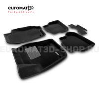 Текстильные 3D коврики Euromat3D Business в салон для Volkswagen Polo SD/HB (2010-) № EMC3D-005416