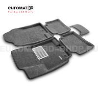 Текстильные 3D коврики Euromat3D Lux в салон для Hyundai Solaris (2010-2016) № EM3D-002717G Серые