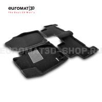 Текстильные 3D коврики Euromat3D Business в салон для Toyota Rav 4 (2006-2013) № EMC3D-005126