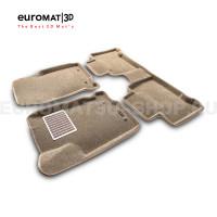 Текстильные 3D коврики Euromat3D Lux в салон для Lexus NX (2014-) № EM3D-003211T Бежевые