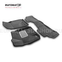 Текстильные 3D коврики Euromat3D Lux в салон для Toyota Land Cruiser 200 (2007-2012) № EM3D-005118G Серые