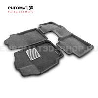 Текстильные 3D коврики Euromat3D Lux в салон для Toyota Camry V50 (2011-2017) № EM3D-005104G Серые