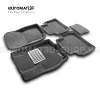 Текстильные 3D коврики Euromat3D Lux в салон для Peugeot 4007 № EM3D-003609G Серые