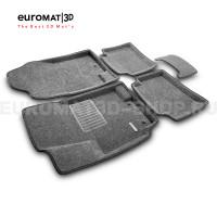 Текстильные 3D коврики Euromat3D Business в салон для Hyundai Solaris (2010-2016) № EMC3D-002717G Серые