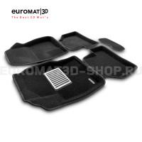 Текстильные 3D коврики Euromat3D Lux в салон для Ford Focus 2 (2005-2011) № EM3D-002214