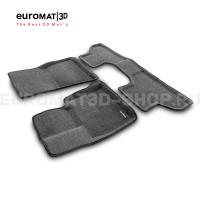 Текстильные 3D коврики Euromat3D Business в салон для Bmw X5 (F15) (2015-) № EMC3D-001215G Серые
