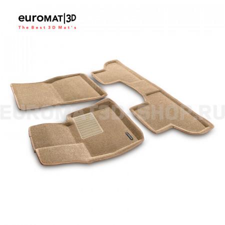 Текстильные 3D коврики Euromat3D Business в салон для Bmw X6 (F16) (2015-) № EMC3D-001215T Бежевые