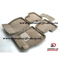 Текстильные 3D коврики Euromat3D Lux в салон для Opel Zafira C (2012-) № EM3D-003814T Бежевый