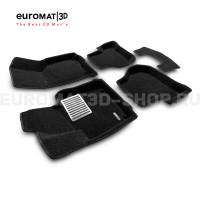 Текстильные 3D коврики Euromat3D Lux в салон для Volkswagen Scirocco (2009-) № EM3D-004502