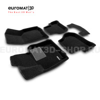 Текстильные 3D коврики Euromat3D Business в салон для Volkswagen Scirocco (2009-) № EMC3D-004502