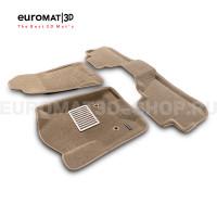 Текстильные 3D коврики Euromat3D Lux в салон для Chevrolet Tahoe (2015-2021) № EM3D-001306T Бежевые