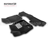 Текстильные 3D коврики Euromat3D Lux в салон для Toyota Land Cruiser 200 (2012-2021) № EM3D-005103
