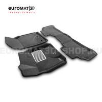 Текстильные 3D коврики Euromat3D Lux в салон для Toyota Land Cruiser 200 (2012-2021) № EM3D-005103G Серые