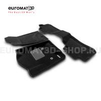 Текстильные 3D коврики Euromat3D Business в салон для Cadillac Escalade (2015-2021) № EMC3D-001306