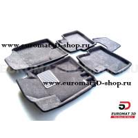 Текстильные 3D коврики Euromat3D Lux в салон для Hyundai Elantra (2006-2008) № EM3D-002722G Серые
